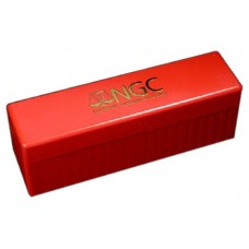 Official NGC 20 Graded Coin Slab Red Plastic Storage Box