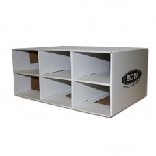BCW Corrugated Cardboard Shoe Box Storage House for 6 Trading Card 2-Row Boxes