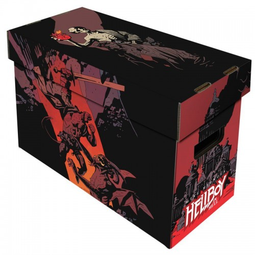Free Nascar Racing Games >> 10 BCW Short Cardboard Comic Book Storage Boxes with Hellboy in Hell Art Design