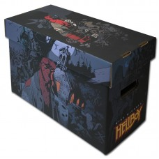 10 BCW Short Cardboard Comic Book Storage Boxes with Hellboy Art Design box