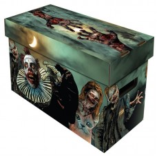 BCW Short Cardboard Comic Book Storage Box with Zombies Art Design