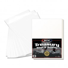 Pack of 25 BCW Premade Treasury Comic Book Archival Poly Bags + Backer Boards