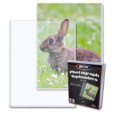 Pack of 25 BCW 6x8 Rigid Hard Plastic Photo / Print Topload Holders 6 x 8