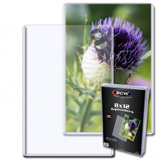 Pack of 20 BCW 8x12 Rigid Hard Plastic Photo / Print Topload Holders 8 x 12