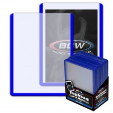 Pack of 25 BCW 3 X 4 Topload Card Holders - BLUE Border