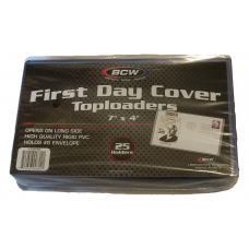 Pack of 25 BCW 7 x 4 First Day Cover Rigid Clear Plastic Topload Holders