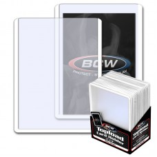 Pack of 25 BCW 3 X 4 Topload Card Holders - WHITE Border