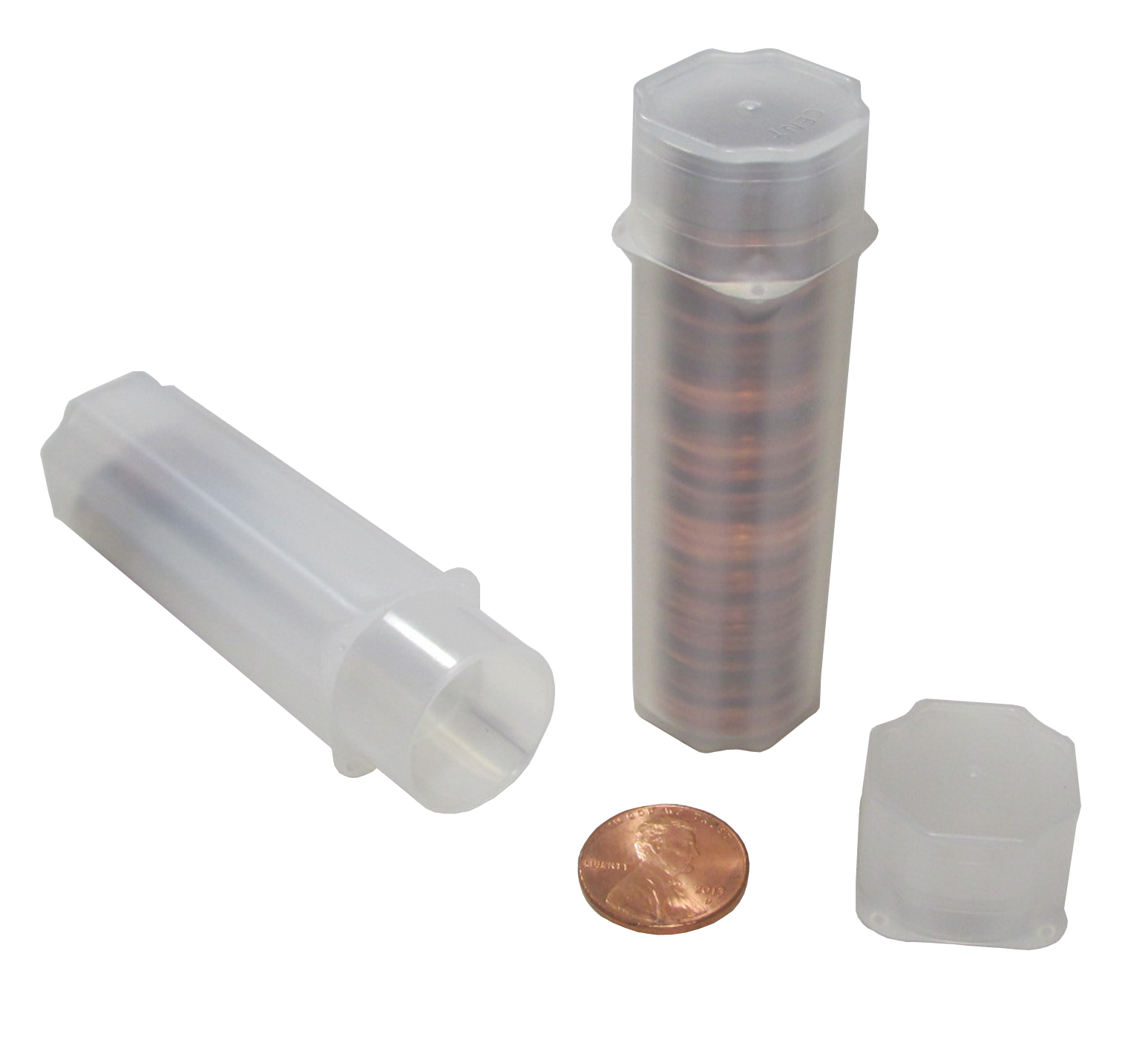 Penny Cent Square Coin Tubes by Guardhouse 19mm 5 pack Free Shipping USA