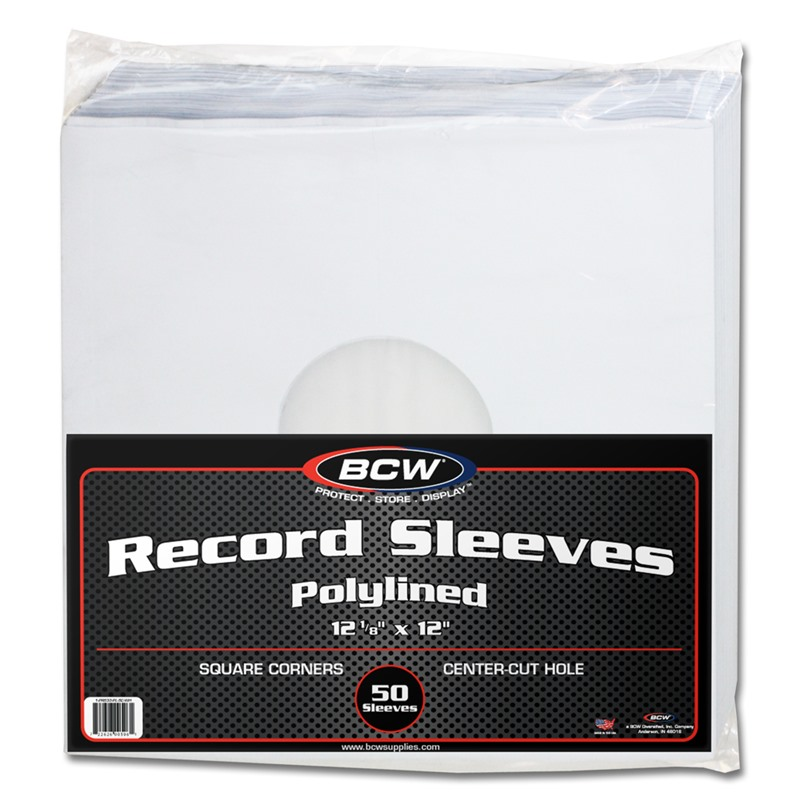 Pack Of 50 Bcw Polylined Paper 33rpm Lp Album Record Inner